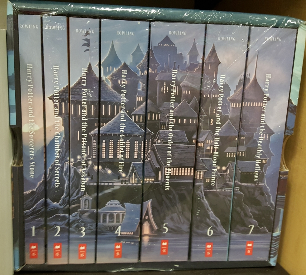 Harry Potter Book Set Big W : Thoughts cat on the bookshelf