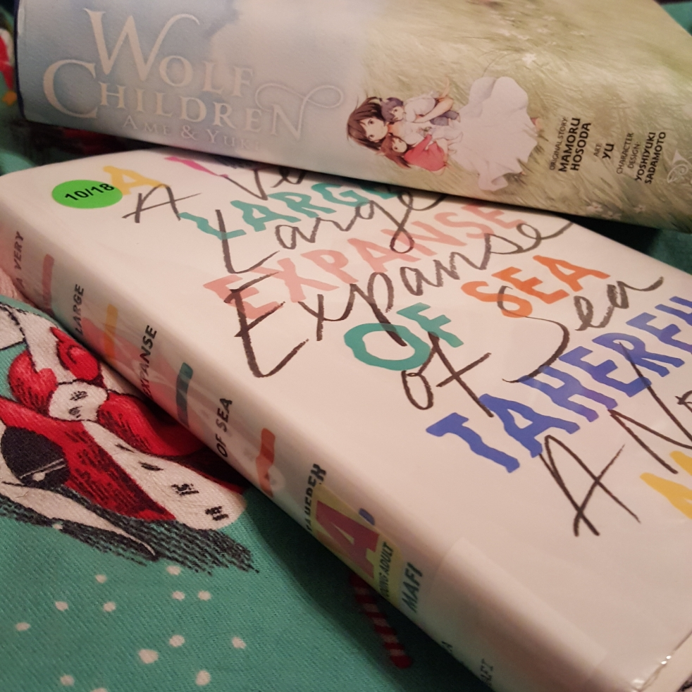Wolf Children by Mamoru Hosoda and A Very Large Expanse of Sea by Tahereh Mafi